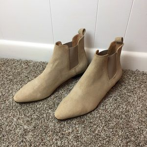 Banana Republic Taupe Suede Booties Size 9.5